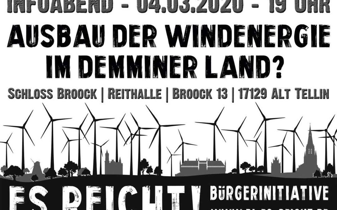 Infoveranstaltung Ausbau Windenergie